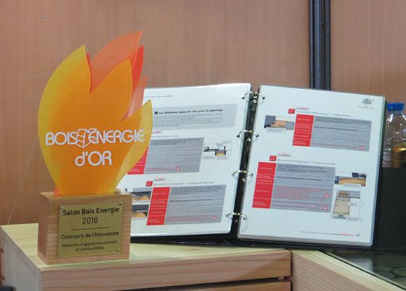 FIBOIS Ardèche-Drôme remporte le trophée d innovation Bois Energie d Or  pour son outil d aide à la conception des silos de chaufferies bois.  e0451a3cec29